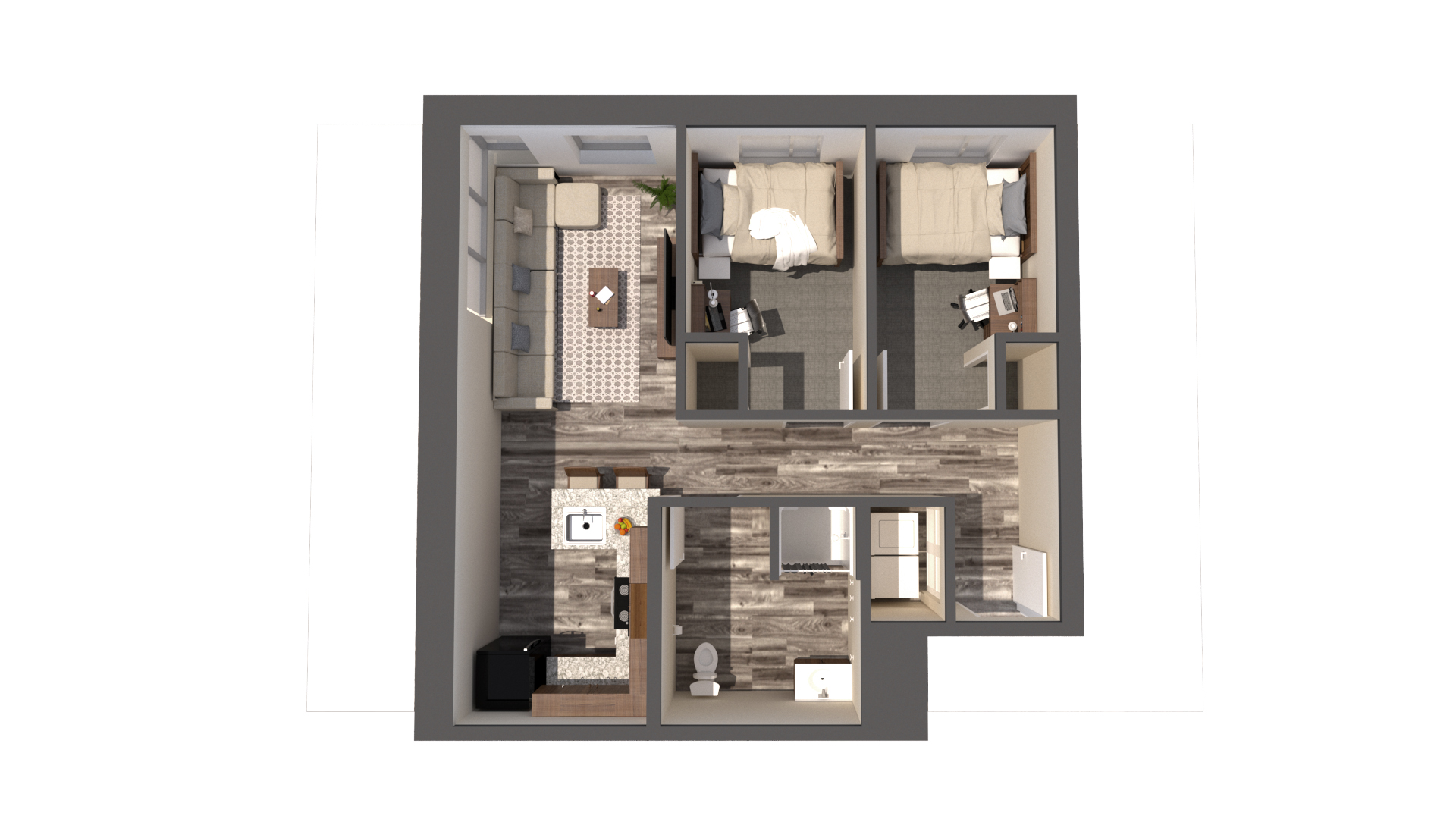 Douthit West Full 2 person apartment